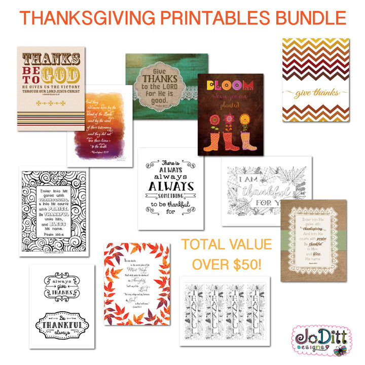 Thanksgiving coloring pages and printables by JoDitt Designs