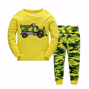 Yellow Truck Kids Pajama - Pajamas Haven