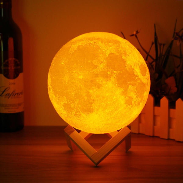 3D Spherical Moon LED Lamp - Pajamas Haven