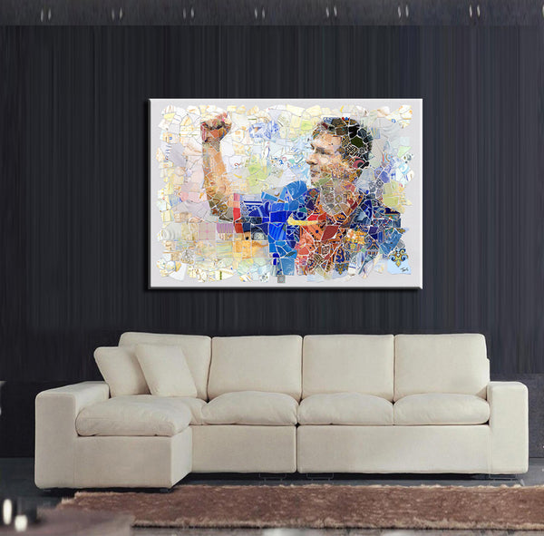 Messi Canvas Printed Painting - Pajamas Haven