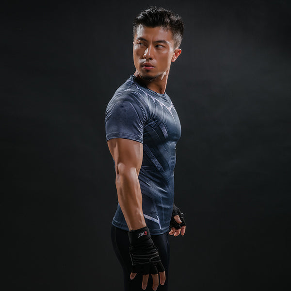 Black Panther 3D Printed Workout T-shirt Men - Pajamas Haven