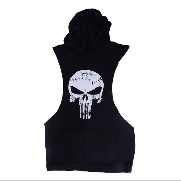 Mens Punisher Gym Tank Top Hoodie - Pajamas Haven