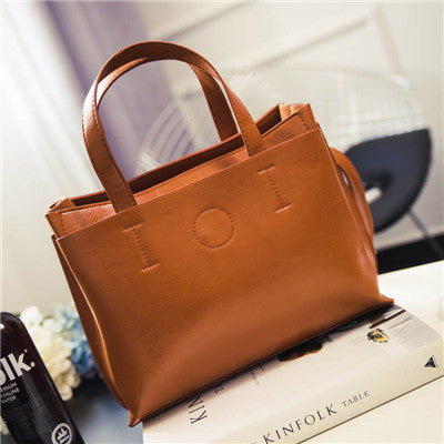 Women's Shoulder Leather Handbag - Pajamas Haven
