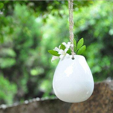 2 Pack Ceramic Hanging Hydroponic Planter Flower Pot - Pajamas Haven