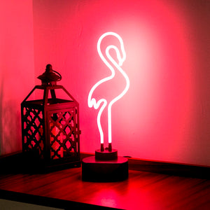 Neon Flamingo Light - Pajamas Haven