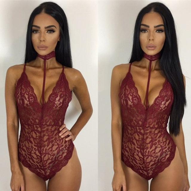Women's Erotic Lingerie Lace Romper - Pajamas Haven