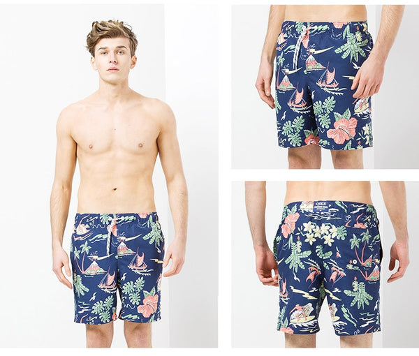 Men's Hawaiian Swimming Board Shorts - Pajamas Haven