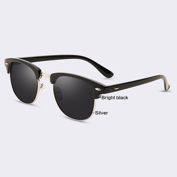 Half Metal Wayfarer Sunglasses For Men/Women - Pajamas Haven