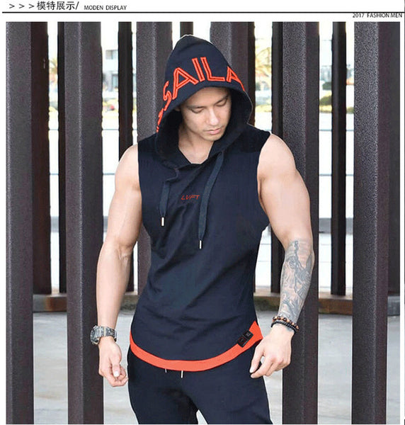 Men's Gym  Tank Top Hoodie Sportwear - Pajamas Haven