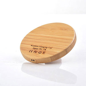 Wooden Nature Portable Cellphone Wireless Fast Charger - Pajamas Haven