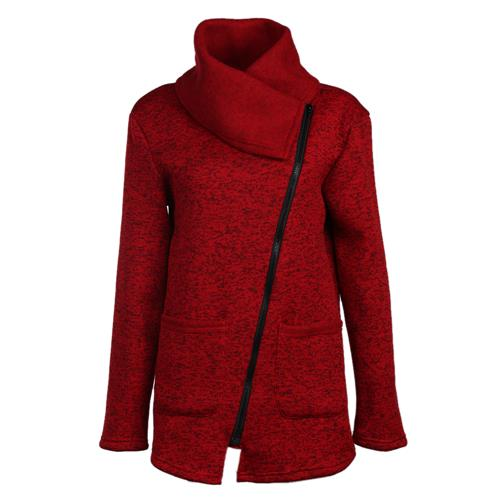 Winter Zipper Collared Coat - Pajamas Haven