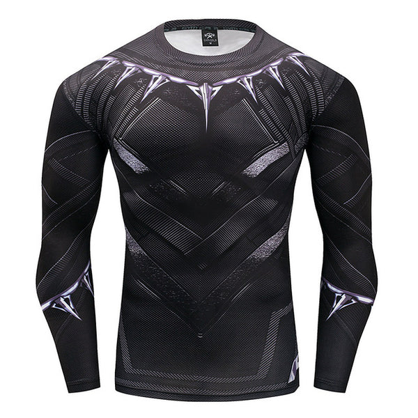 Black Panther Gym Long Sleeve Shirt - Pajamas Haven
