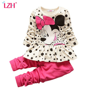 Girls Minnie Mouse Clothing Set - Pajamas Haven