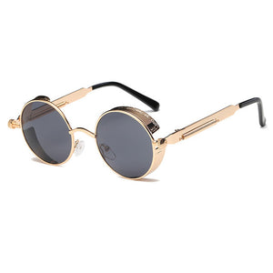 Metal Round Unisex Vintage Steampunk Sunglasses-Pajamas Haven