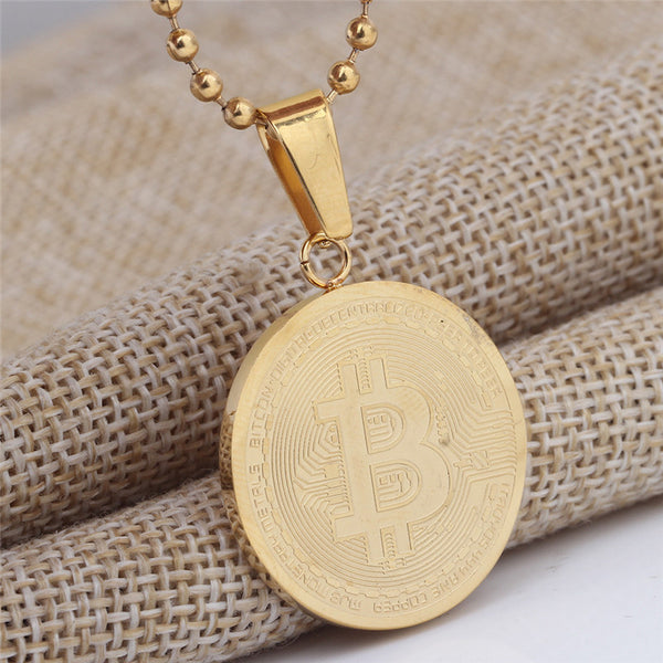 Bitcoin Necklace - Pajamas Haven
