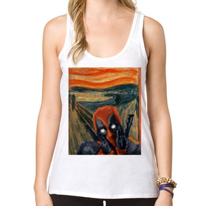 Deadpool Comic Tank Top Print - Pajamas Haven
