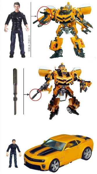 Bumble Bee Transformers Robot/Sam Figure Set - Pajamas Haven