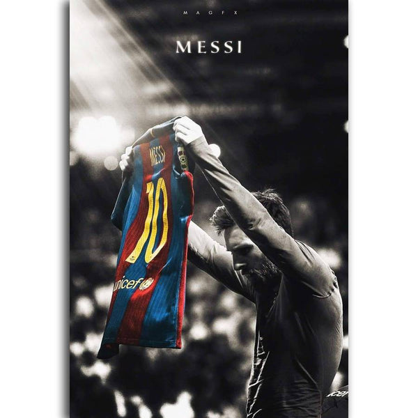 Lionel Messi Silk Canvas Wall Poster - Pajamas Haven