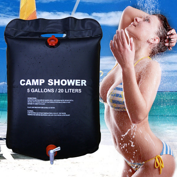 New 20L / 5 Gallons Camping Shower Bag - Pajamas Haven
