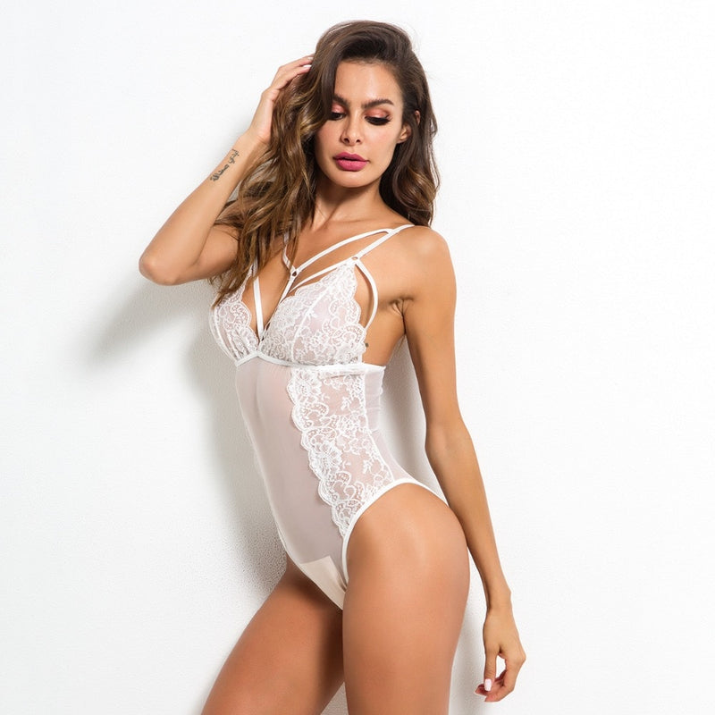 Body sexy transparent unicolore - dvlparis.com
