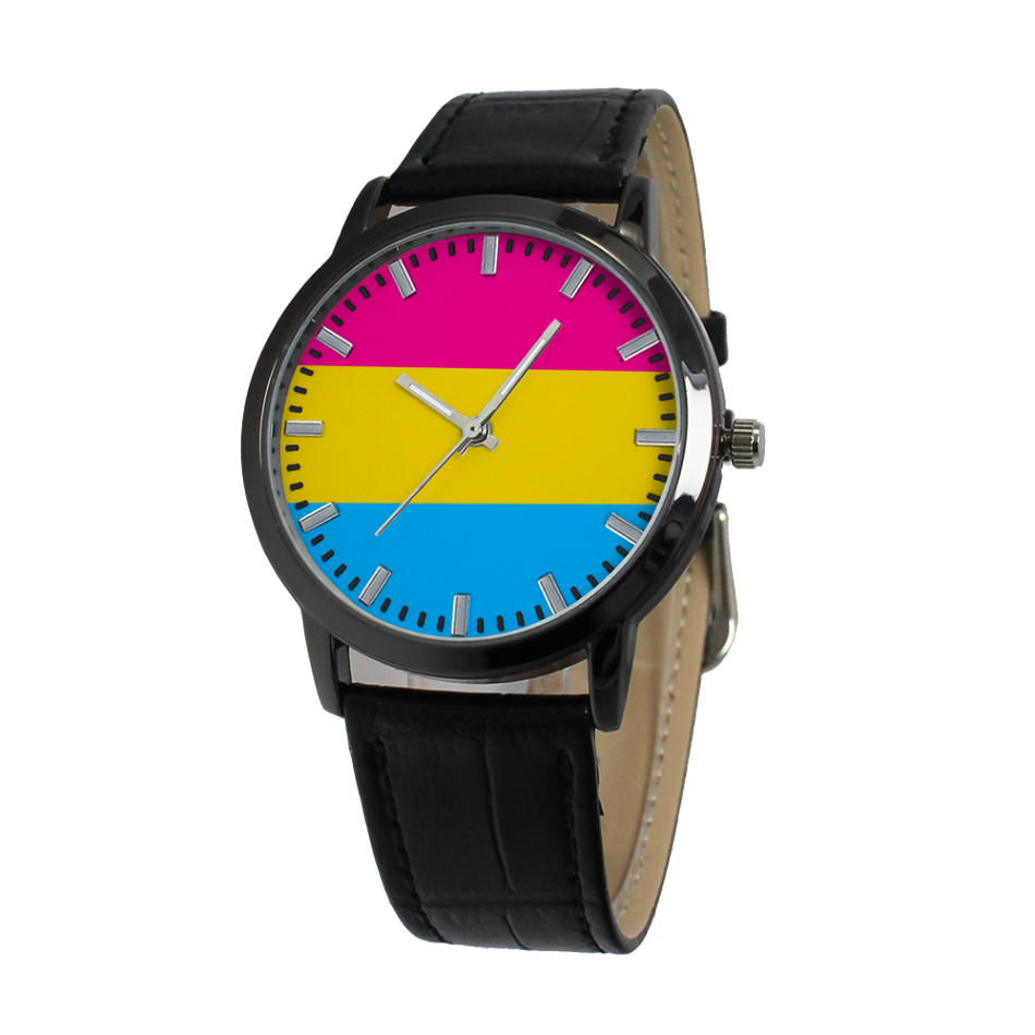 Pride Flags Concise Dial Water-resistance Quartz Watch