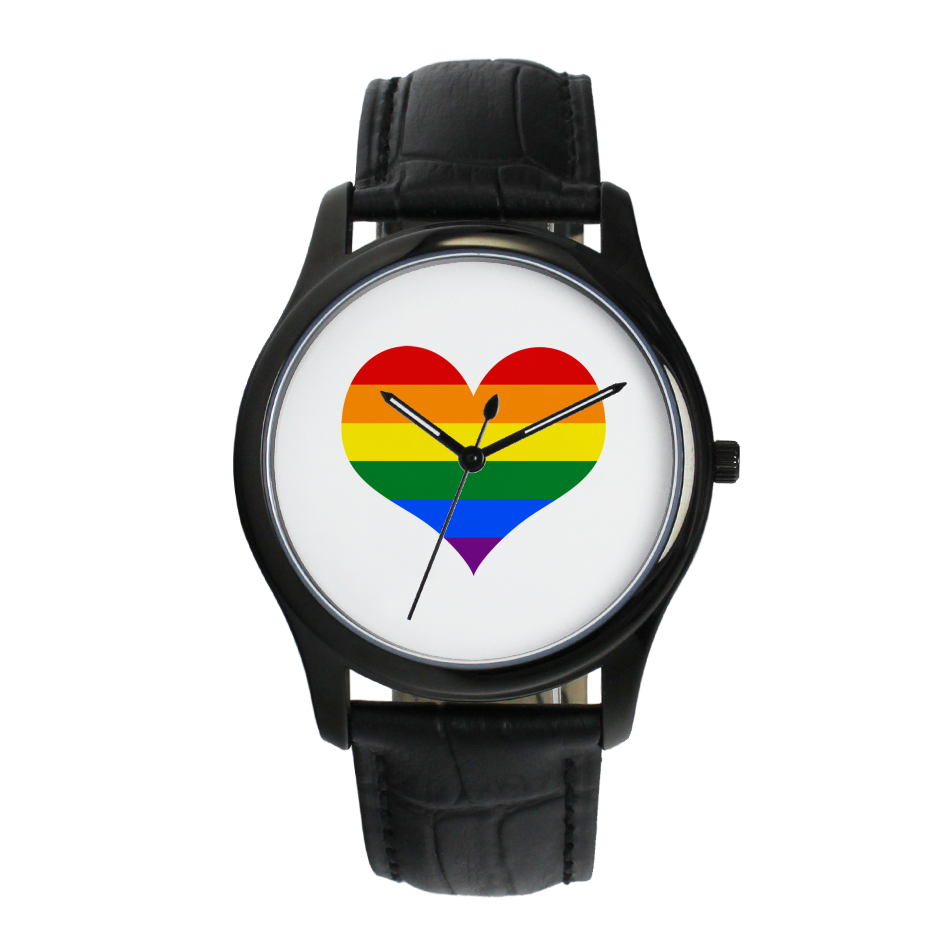 Rainbow Heart Watch face in various styles