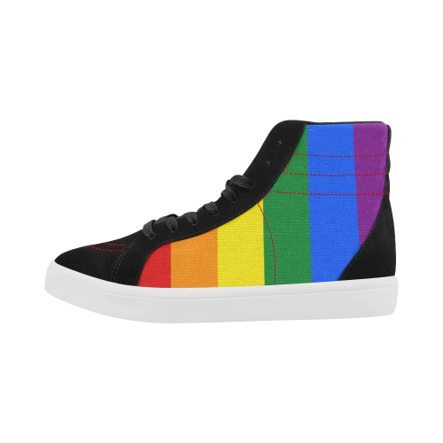 Gay Rainbow Flag High Top Shoes