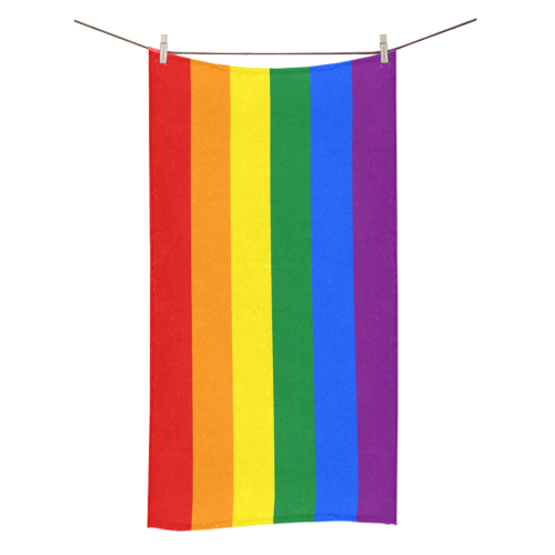 "Rainbow Gay Flag Beach Towel 30""x56"""