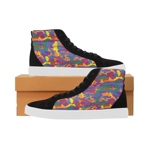 Rainbow Camouflage Army Skateboard Shoes