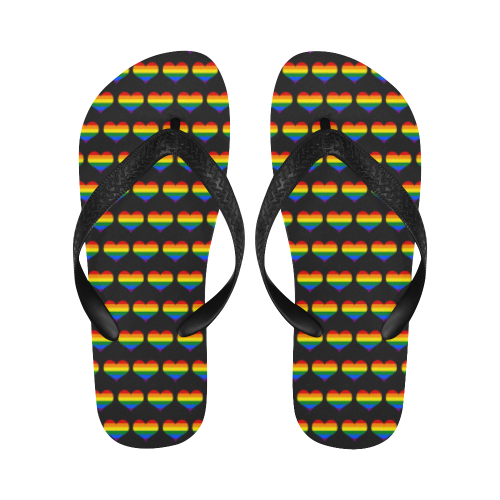 Rainbow Heart Thongs / Flip Flops