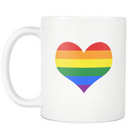 Between my Valentine Rainbow Heart Mug | Be Loud, Be Proud! | LGBTI Pride | Coffee / Tea Cup | Valentines Day Gift | Can be customised