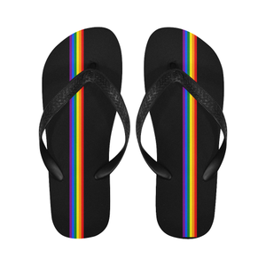 Rainbow Stripe Thongs / Flip Flops