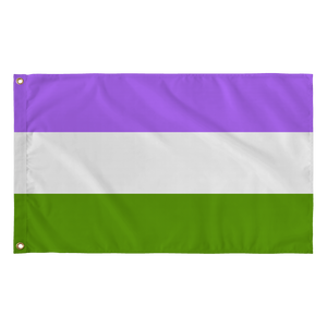 "Genderqueer Wall Flag - 36"" x 60"""