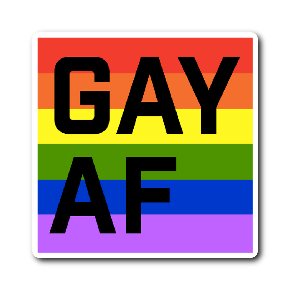 GAY AF die-cut vinyl sticker