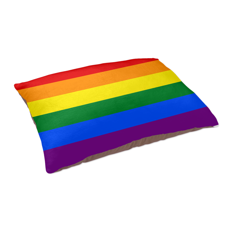 Rainbow Flag Pet Bed | Treat your pet with one of these rainbow delights!