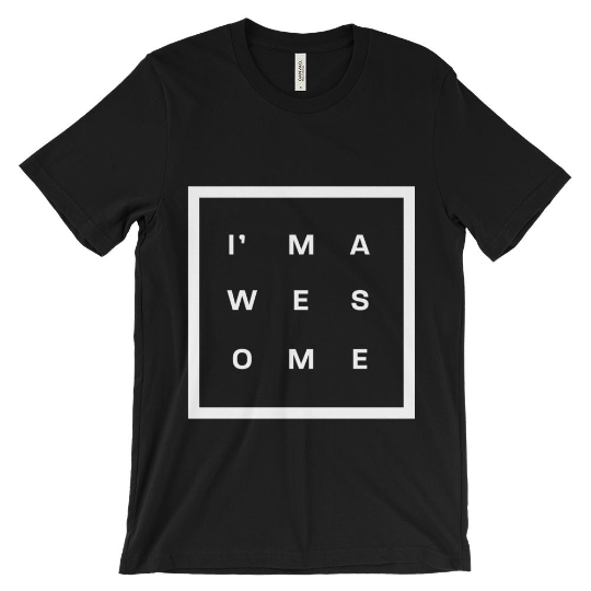 I'm awesome tshirt - Jet Black