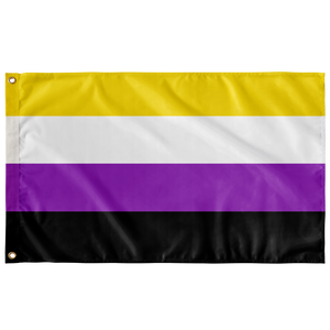 "Non-binary Pride Wall Flag 30""x60"""