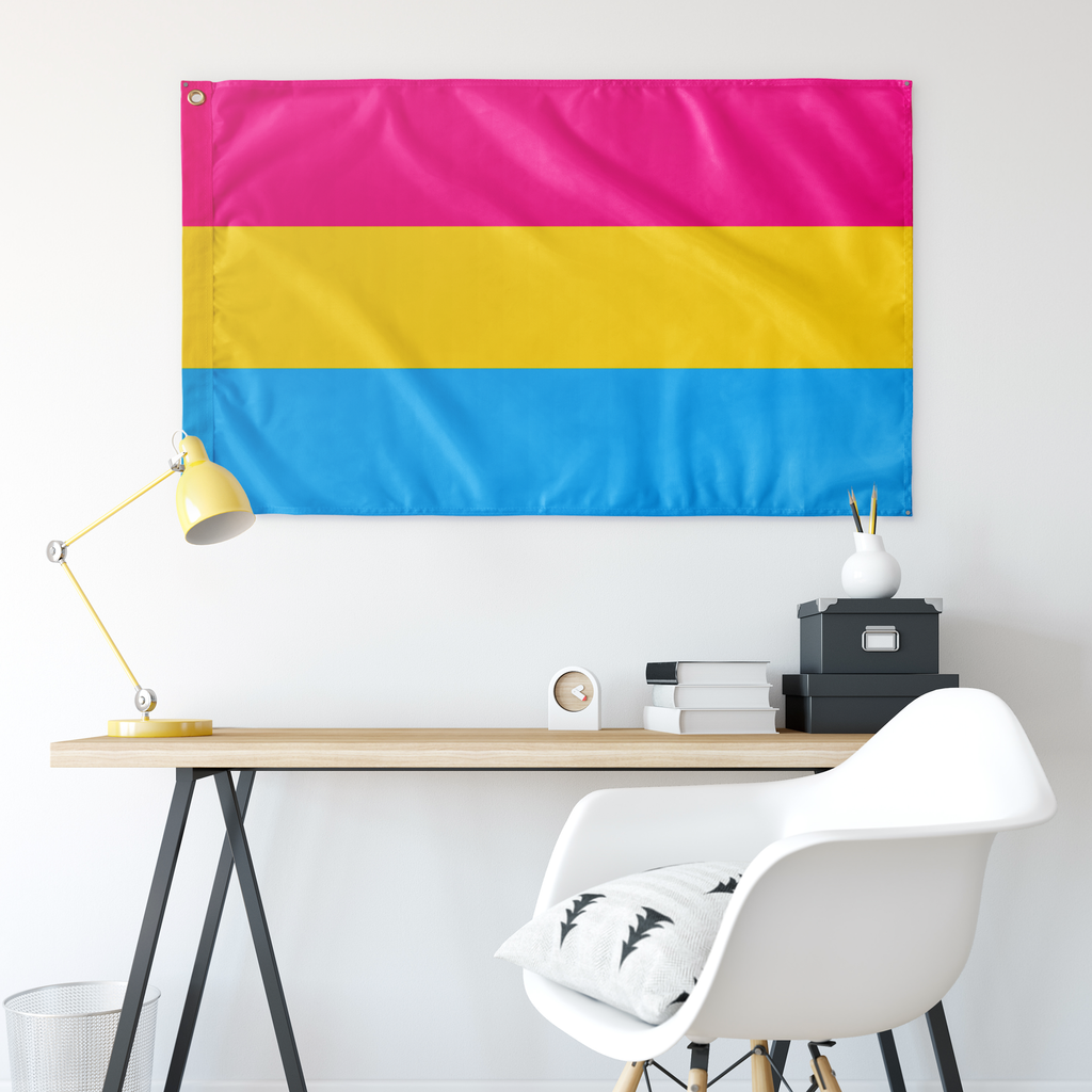 "Pansexual Pride Wall Flag 30""x60"""