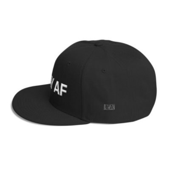GAY AF Wool Blend Snapback | Show your rainbow pride!