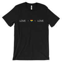 Love is love is love jet black tshirt | Marriage Equality / Same Sex Marriage - voice your opinion!