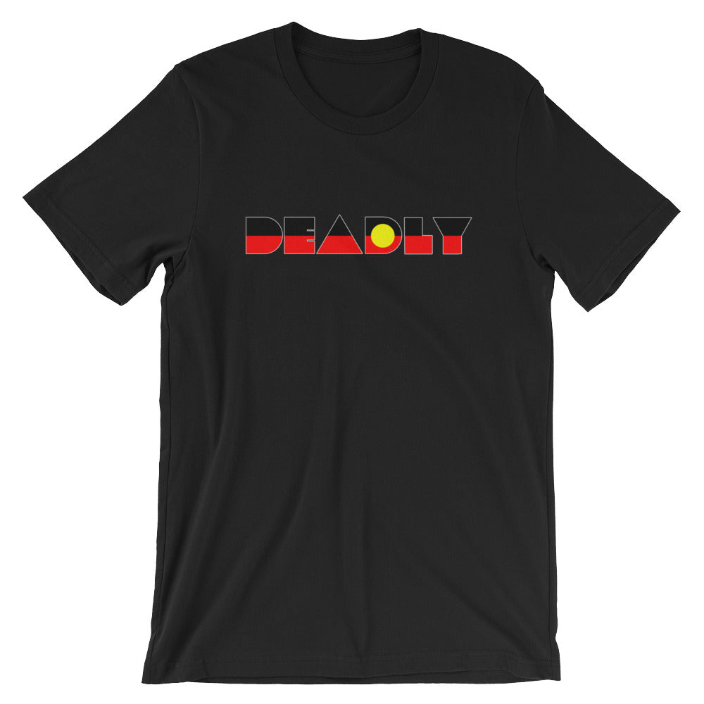Aboriginal Flag Deadly Short-Sleeve Unisex T-Shirt