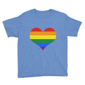 Rainbow Heart Youth Short Sleeve T-Shirt