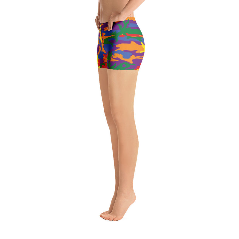 Rainbow Army Camouflage Shorts