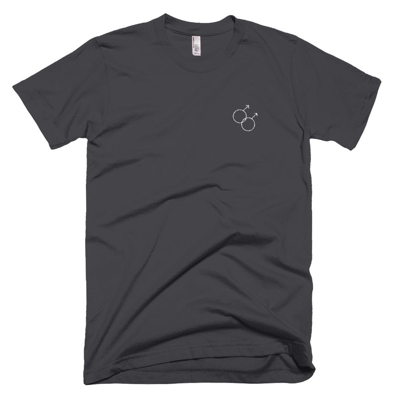 Gay Symbol Embroidered T-Shirt