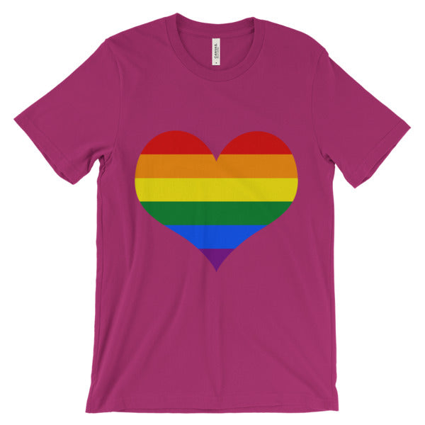 Valentines Rainbow Heart | Be Loud, Be Proud! Tell everyone who and what you are! | LGBTI Pride