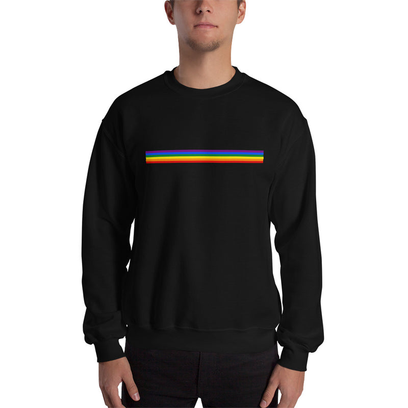 Rainbow Bar Line Sweatshirt