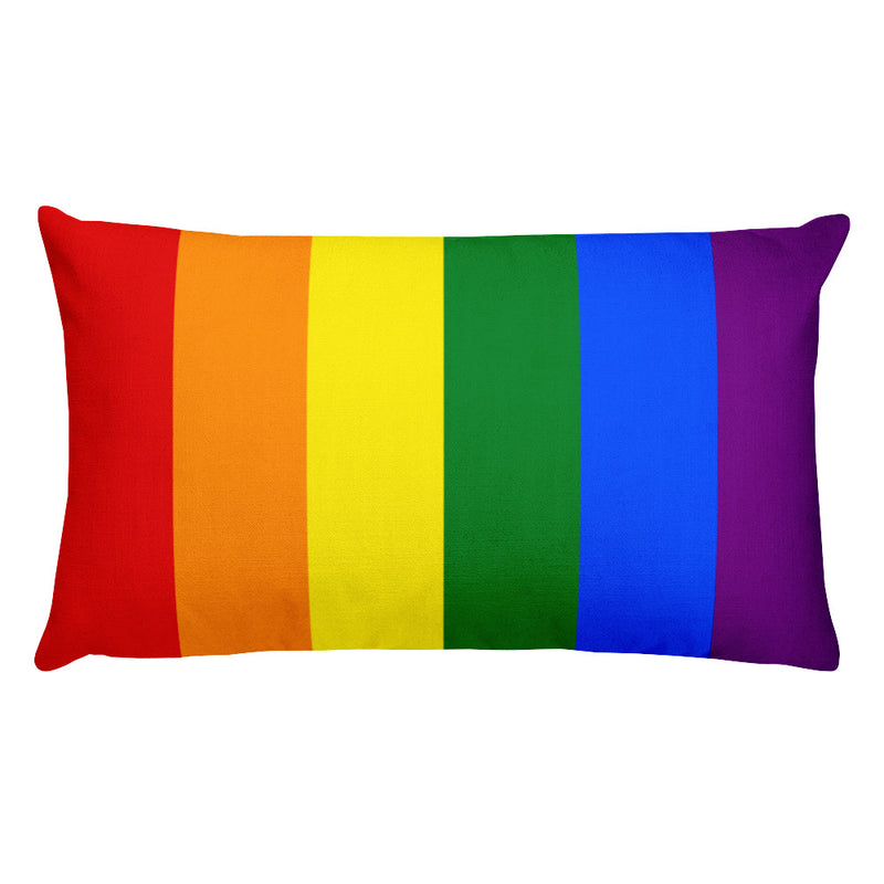 Rainbow Gay Flag Rectangular Pillow | Show your LGBT pride at home