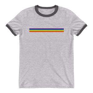 Rainbow Bar Flag Ringer T-Shirt
