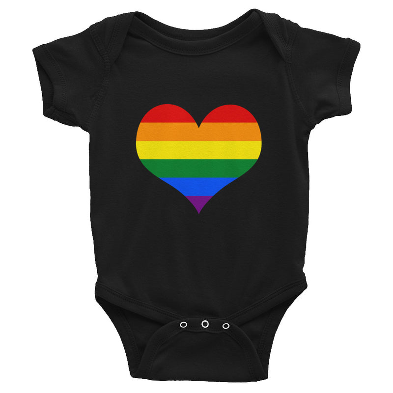 Rainbow Heart Infant Bodysuit