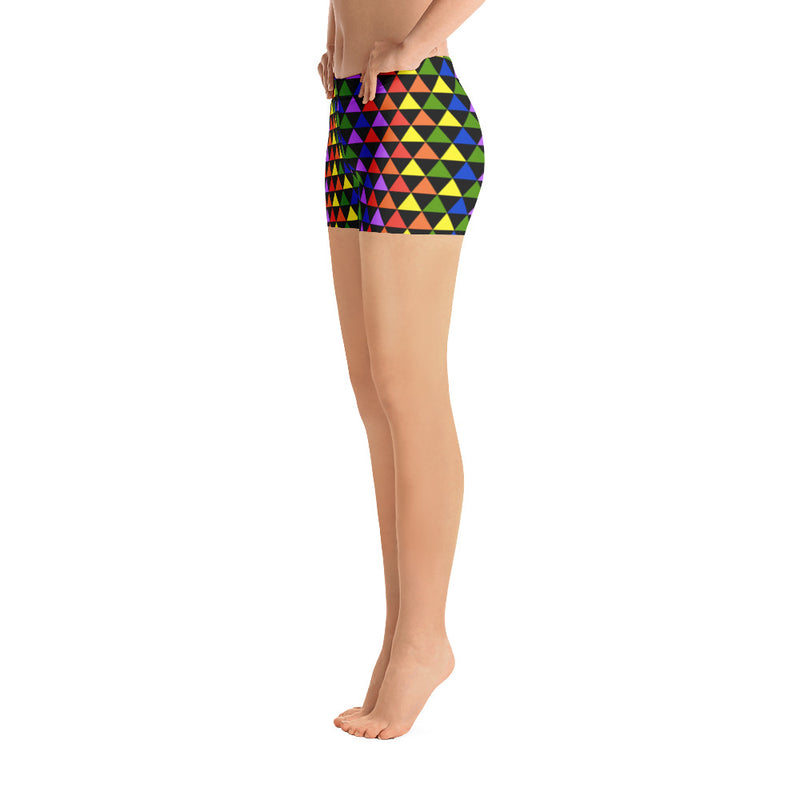 Rainbow Triangle Gym Shorts